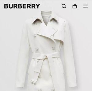 Burberry Gabardine Panel Cashmere Trench Coat
